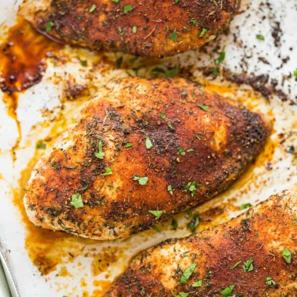 Baked Chicken Breasts-on baking sheet