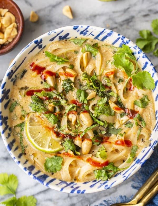 Gingery Peanut Noodle Soup