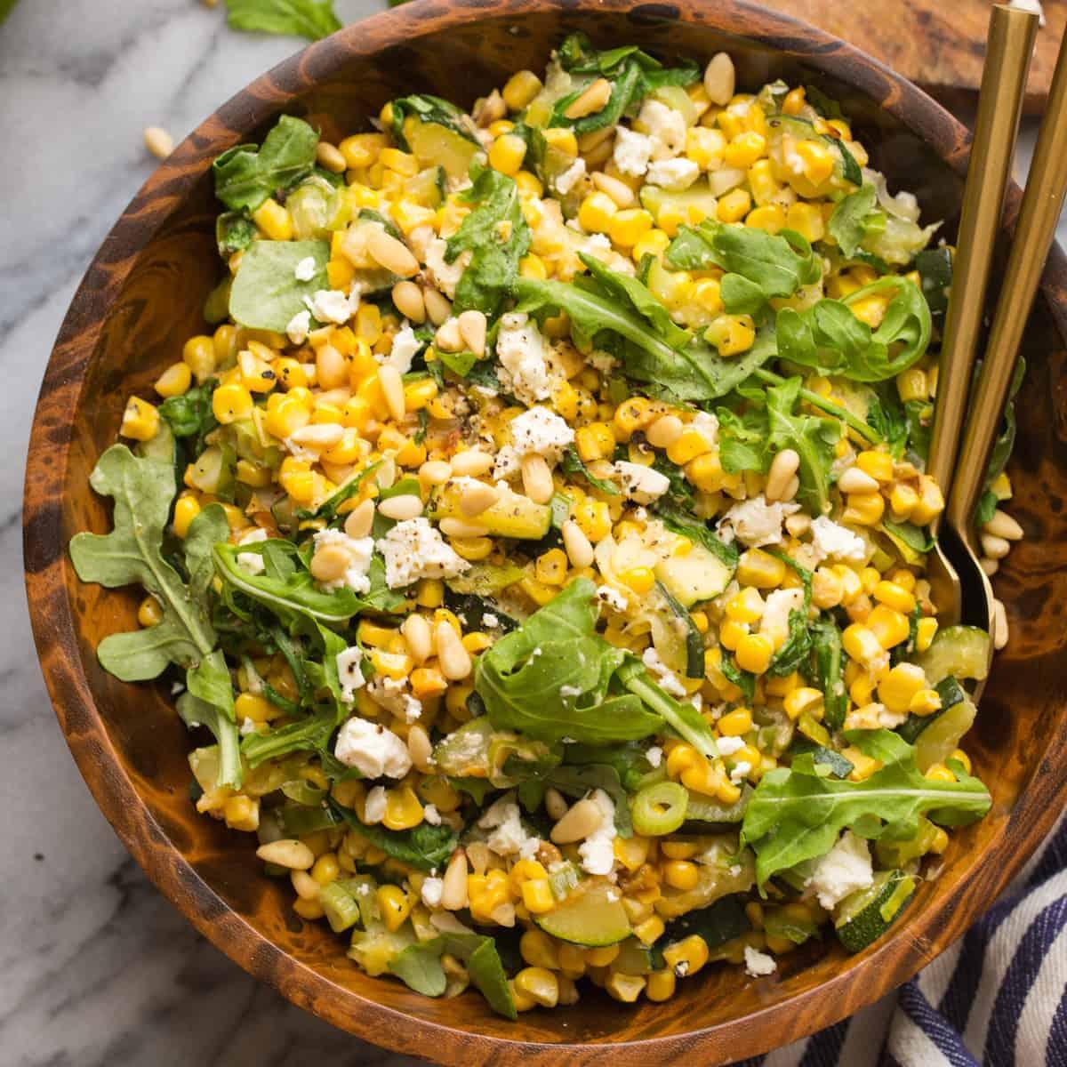 Sautéed Corn & Courgette Salad-thumbnail
