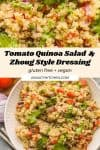 Tomato Quinoa Salad with a Zhoug Style Dressing pinterest collage
