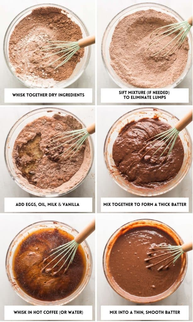 cake batter collage