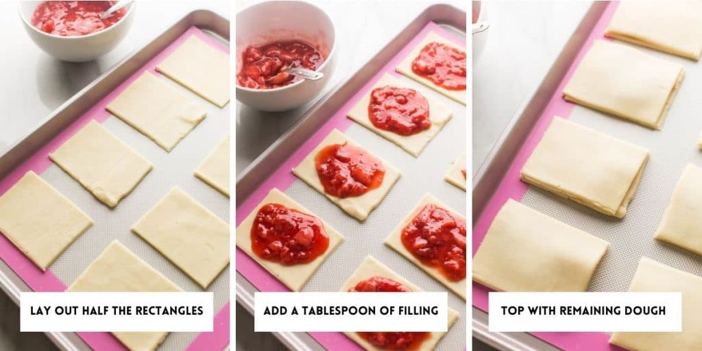 Strawberry Gluten Free Pop Tarts assembly collage