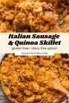 italian sausage & quinoa skillet pin graphic