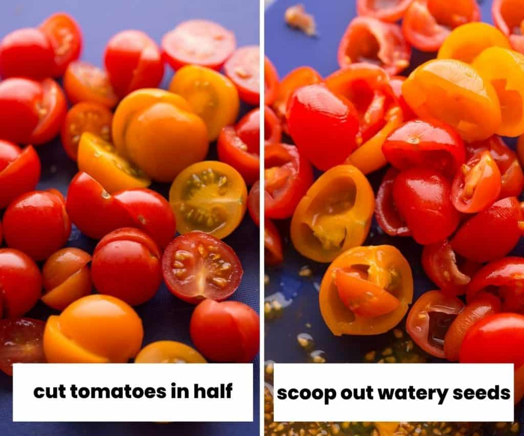 cherry tomato collage