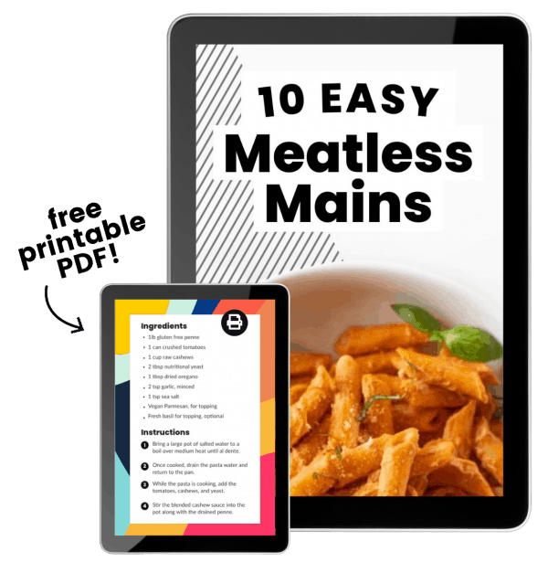 10 Meatless Mains featured on an ipad