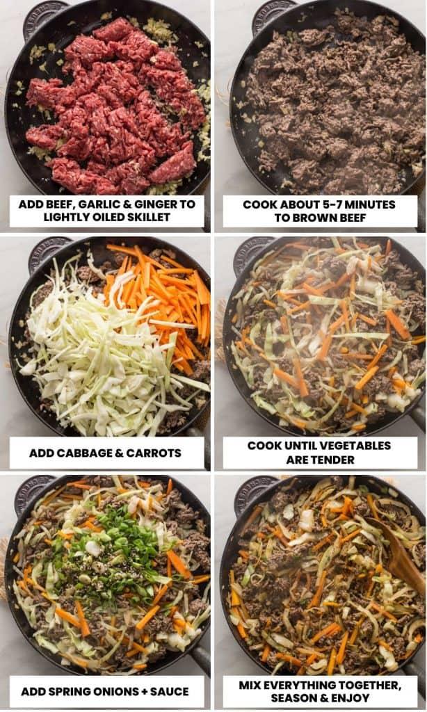 stir fry collage