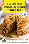 zucchini bread pancakes pin graphic