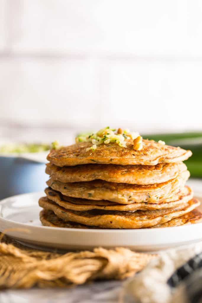stack of Zucchini Bread Pancakes