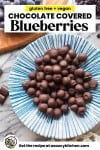 Chocolate Covered Blueberries Pin graphic