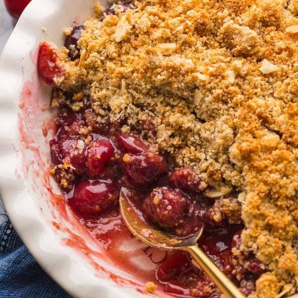 up close grain free cherry crumble