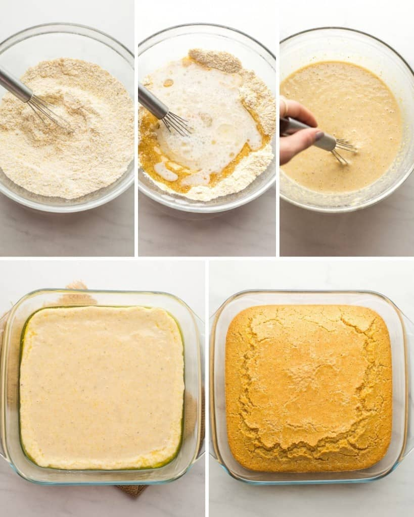 gluten free cornbread collage