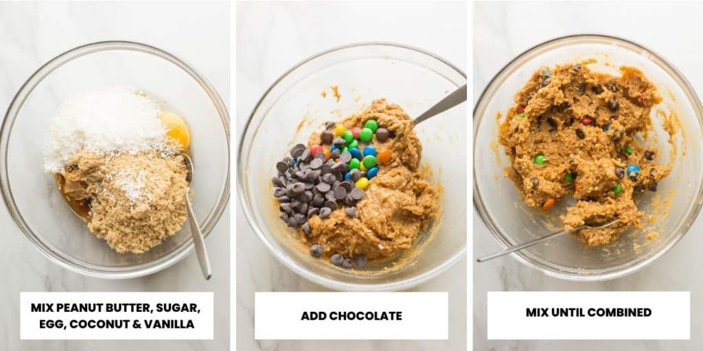 oat free monster cookie dough collage