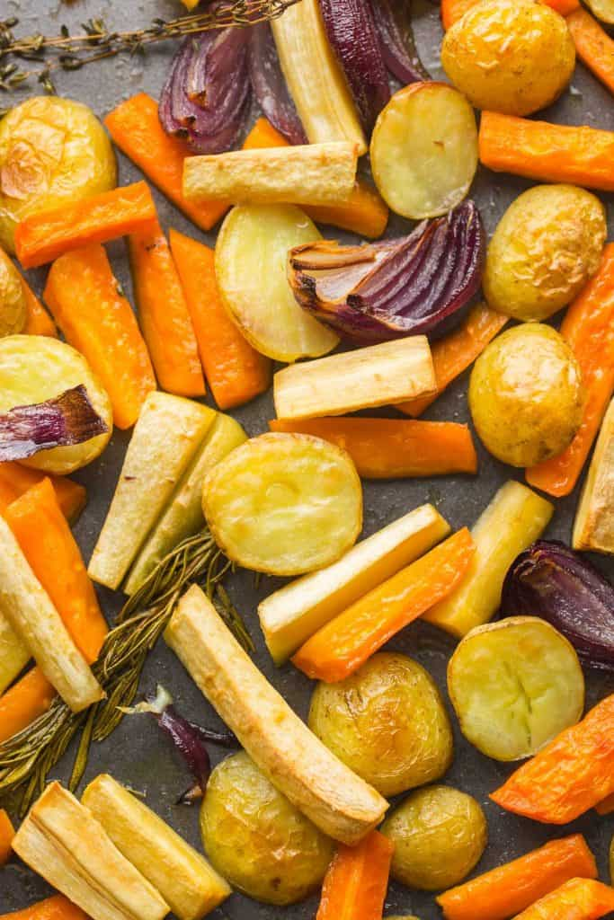 up close image of Roasted Root Vegetables