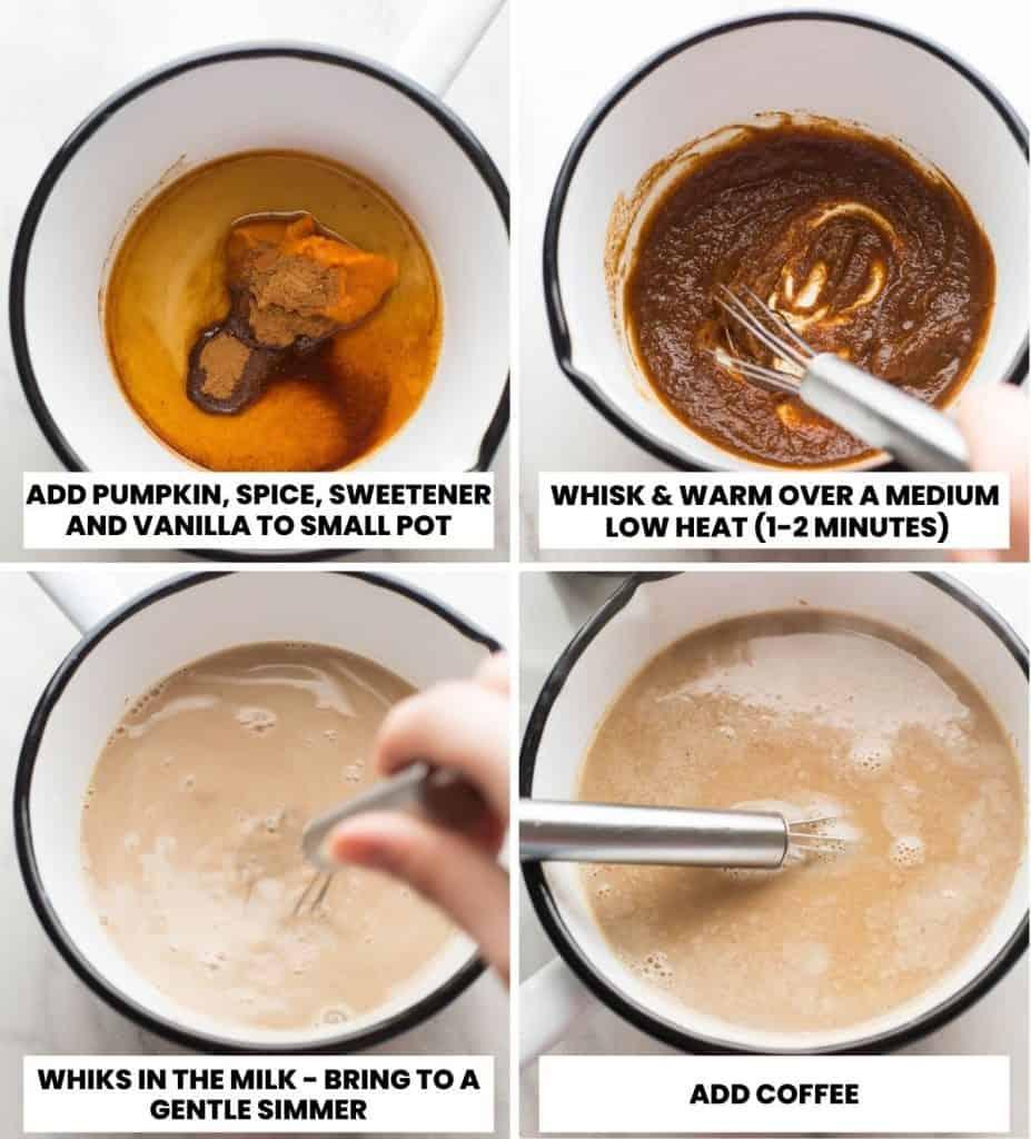 Dairy Free Pumpkin Spice Latte collage