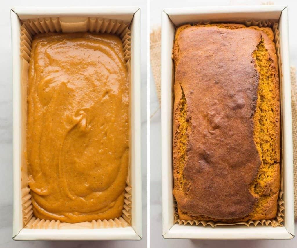 gluten free pumpkin bread batter - baking collage.jpg