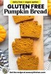 gluten free pumpkin bread pinterest graphic with text
