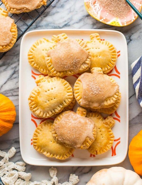 gluten free pumpkin pop tarts on a platter