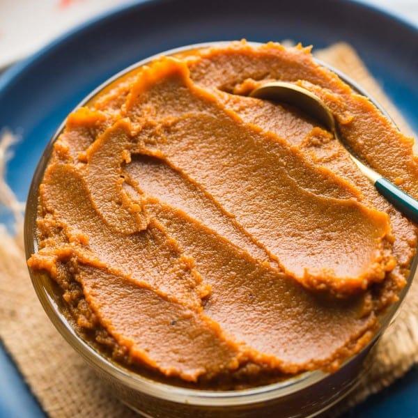 Homemade Pumpkin Butter Recipe in a serving bowl