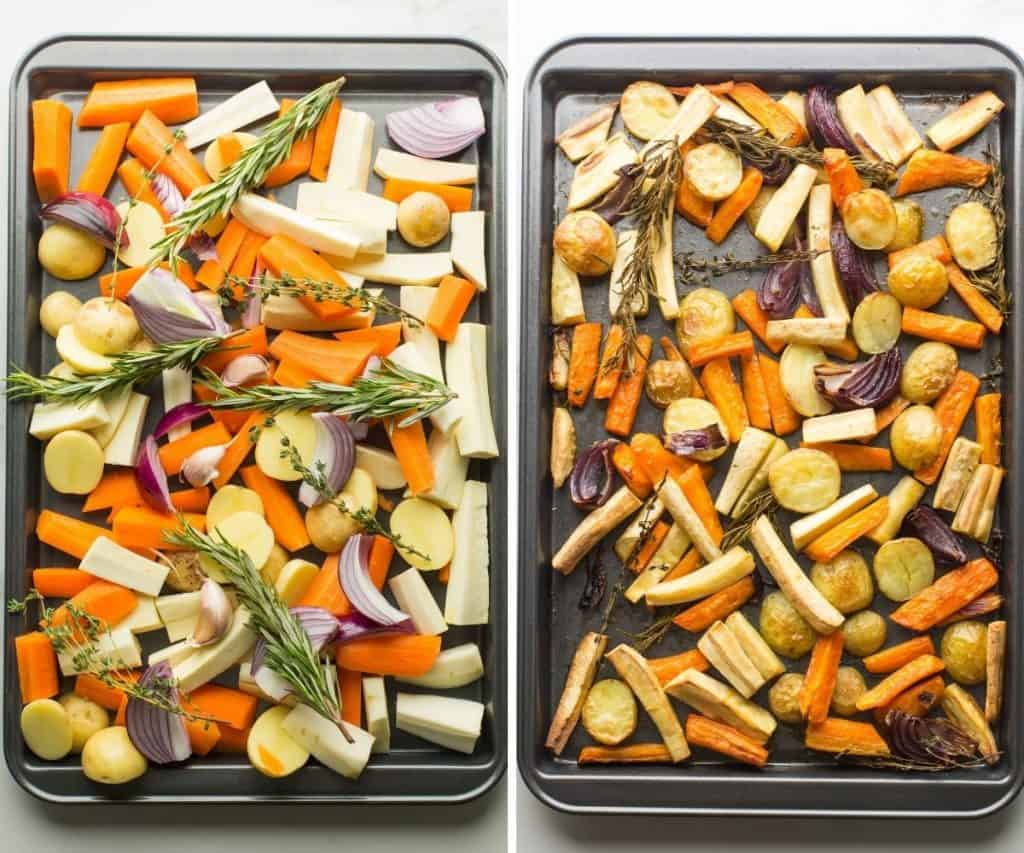 Roasted Root Vegetables collage
